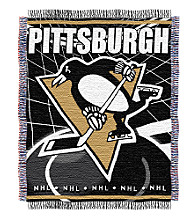 Pittsburgh Penguins Logo Throw