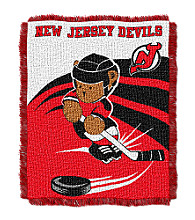 New Jersey Devils Baby Teddy Bear Throw