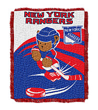 New York Rangers Baby Teddy Bear Throw