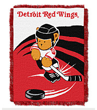Detroit Red Wings Baby Teddy Bear Throw