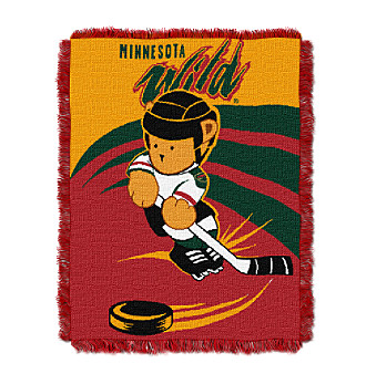 Minnesota Wild Baby Teddy Bear Throw