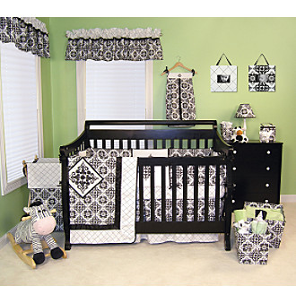 Versailles Black Baby Bedding Collection by Trend Lab