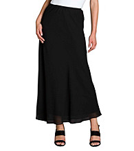 MSK® Georgette A-line Long Skirt - Black