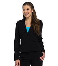 Sequin Hearts® Juniors' 2-button Jacket - Black