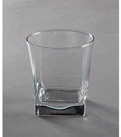 LivingQuarters Specialty Drinkware Set of 4 Ice Cube Double Old Fashioned Glasses