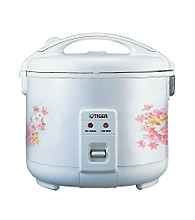 Tiger® Rice Cooker - White with Floral