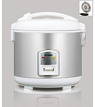 Oyama® Rice Cooker - Stainless Steel/White