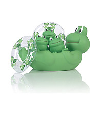 Elegant Baby® Baby Rubber Froggy Bath Set - Green