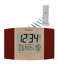 La Crosse Technology® WS-8157U-IT Digital Atomic Wall Clock with Forecast Station