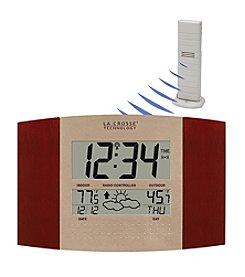 La Crosse Technology® WS-8157U-IT Digital Atomic Wall Clock with Forecast Station