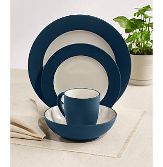 upc product image for noritake colorwave blue rim 4pc - Noritake Colorwave