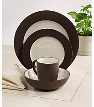 Noritake Colorwave Rim Chocolate 4-pc.Plate Setting