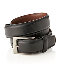 Perry Ellis Portfolio® Men's Leather Belt - Black