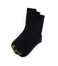 GOLD TOE® Men's Uptown 3-Pack Socks - Black
