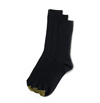 GOLD TOE® Men's Canterbury 3-Pack Socks - Black