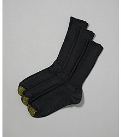 GOLD TOE® Men's Acylic Fluffies 3 Pack Crew Socks