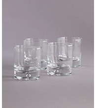 LivingQuarters Specialty Bubble Set of 4 Double Old Fashioned Glasses