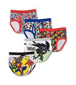DC Comics Boys' 4-8 Assorted 5-pk. Justice League Briefs