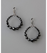 BT-Jeweled Social Occasion Basic Gypsy Earrings - Jet