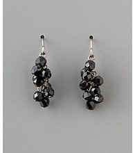 BT-Jeweled Social Occasion Basic Cluster Earrings - Jet