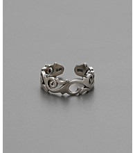 Sterling Silver Elegant Swirl Toe Ring