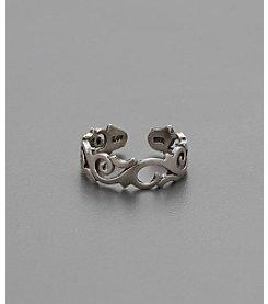 Marsala Sterling Silver Elegant Swirl Toe Ring