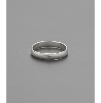 Marsala Sterling Silver 3mm Polished Band Pinky Toe Ring