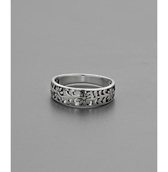 Sterling Silver Open Flower Ring