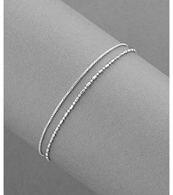 Sterling Silver Double Ankle Bracelet