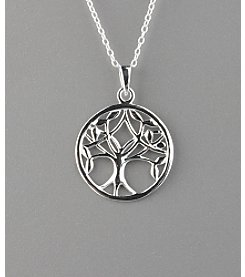 Marsala Sterling Silver Tree of Life Pendant