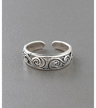 Sterling Silver Antique Filigree Toe Ring
