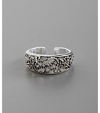 Sterling Silver Etched Swirl Toe Ring