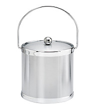 Kraftware™ Brushed Chrome 3-qt. Ice Bucket with Bale Handle