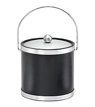 Kraftware™ Sophisticates Black with Brushed Chrome 3-qt. Ice Bucket
