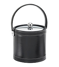 Kraftware™ Black Stitched 3-qt. Ice Bucket with Metal Cover