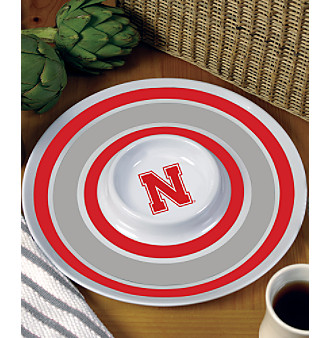 Memory Company Round Chip & Dip Platter - University of Nebraska