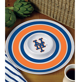 Memory Company Round Chip & Dip Platter - New York Mets