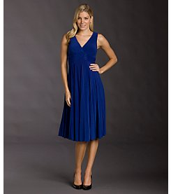 Jessica Howard Beaded Empire Waist Dress - Royal Blue