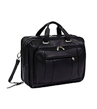 McKlein River West Pebble Grain Calfskin Leather Checkpoint Friendly Laptop Case