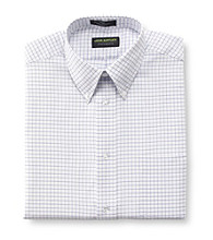 John Bartlett Statements Men's White Fine Grid Dress Shirt