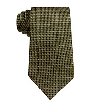 John Bartlett Statements Men's Olive Natte Tie