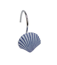 Elegant Home Fashions® Shell Shower Curtain Hooks - Blue