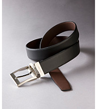 Calvin Klein Men's Black/Brown Feathered Edge Reversible Belt