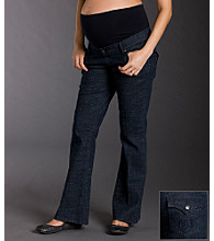Three Seasons Maternity™ Flare Jeans - Dark Rinse