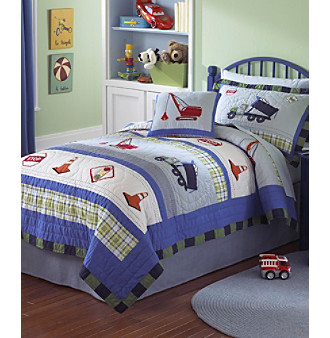 Trucks At Work Bedding Collection by Pem-America, Inc.®