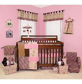 Sweet Safari Baby Bedding Collection by Trend Lab - Pink