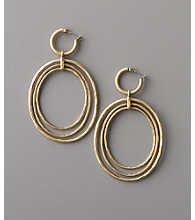 Lucky Brand® Orbital Hoop Earrings - Vintage Goldtone