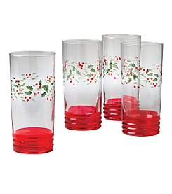 Pfaltzgraff® Winterberry Coolers - Set of 4