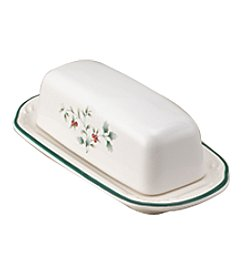 Pfaltzgraff® Winterberry Covered Butter Dish