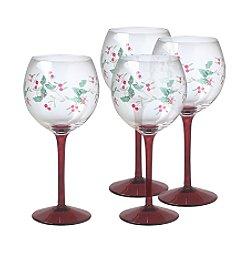 Pfaltzgraff® Winterberry Wine Goblets-Set of 4
